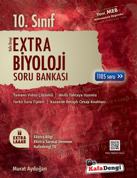10. Sınıf Biyoloji Extra Soru Bankası Kafadengi Yayınları