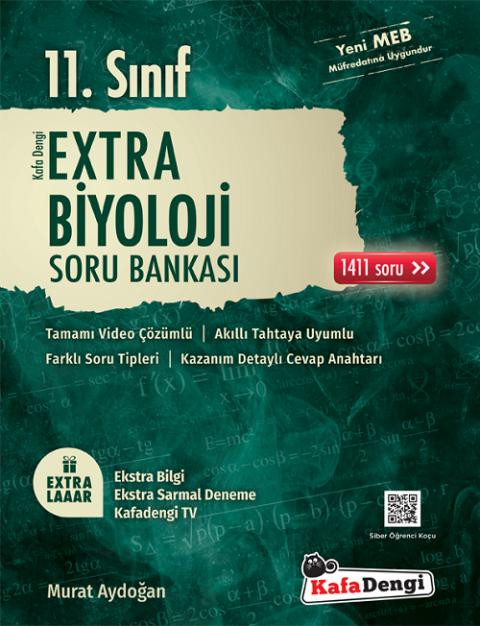 11. Sınıf Biyoloji Extra Soru Bankası Kafadengi Yayınları