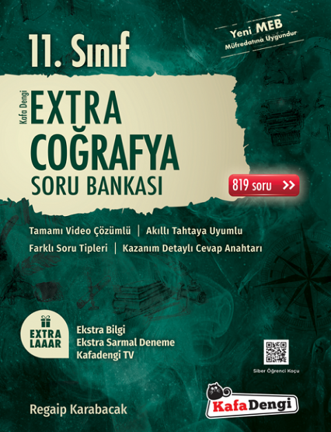 11. Sınıf Coğrafya Extra Soru Bankası Kafadengi Yayınları