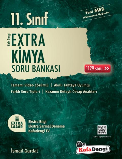 11. Sınıf Kimya Extra Soru Bankası Kafadengi Yayınları