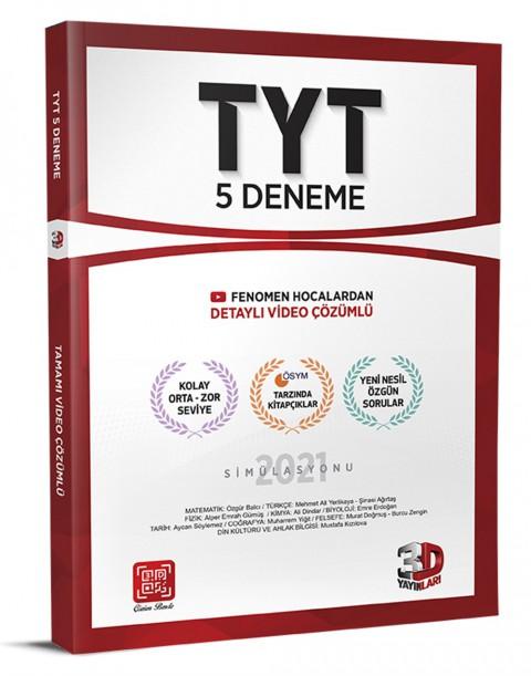 3D Yayınları TYT 5'li Deneme ÖSYM Tarzında Tamamı Video Çözümlü