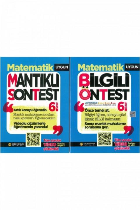 6.sınıf Matematik Bilgili Öntes Mantıklı Sontest 2.kitap Yeni