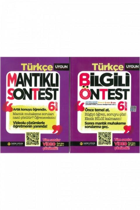 6.sınıf Türkçe Bilgili Öntes Mantıklı Sontest 2.kitap Yeni