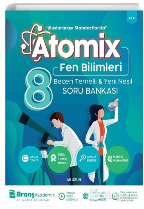 8. Sınıf Fen Bilimleri Atomix Soru Bankası Branş Akademi 2021