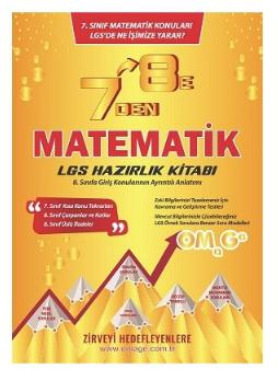 8.Sınıf LGS 7'Den 8'E Lgs Matematik Hazırlık Kitabı Omage Yayınları