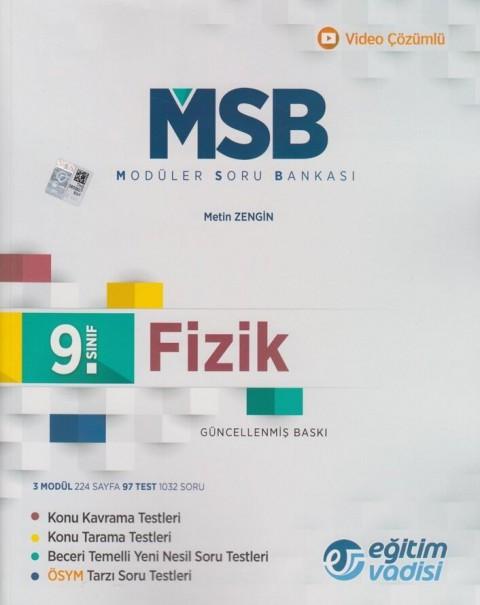 9. Sınıf Fizik MSB Modüler Soru Bankası Eğitim Vadisi Yayınları