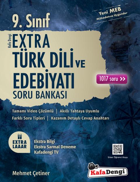 9. Sınıf Türk Dili ve Edebiyatı Extra Soru Bankası Kafadengi Yayınları