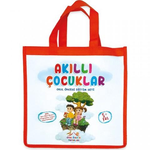 Akıllı Çocuklar 5+ Yaş Okul Öncesi Eğitim Seti Çantalı 11 Kitap