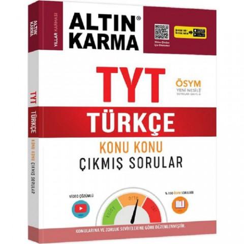 Altın Karma Yayınları 2020 TYT Türkçe Konu Konu Çıkmış Sorular