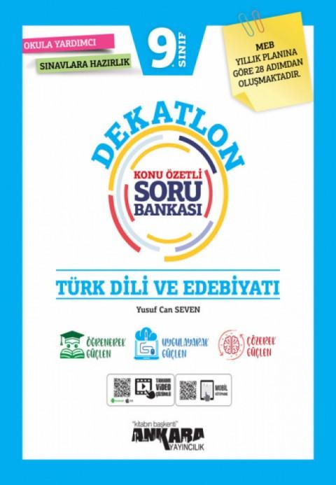 Ankara Yayıncılık 9. Sınıf Türk Dili ve Edebiyatı Dekatlon Soru Bankası