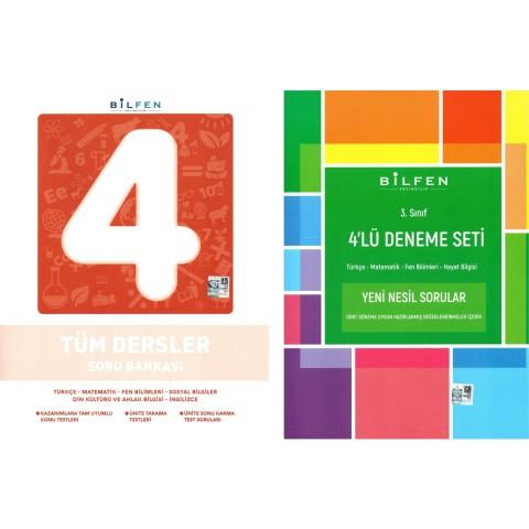 Bilfen Yayınları 4. Sınıf Tüm Dersler Soru Bankası + 4'lü Deneme Seti