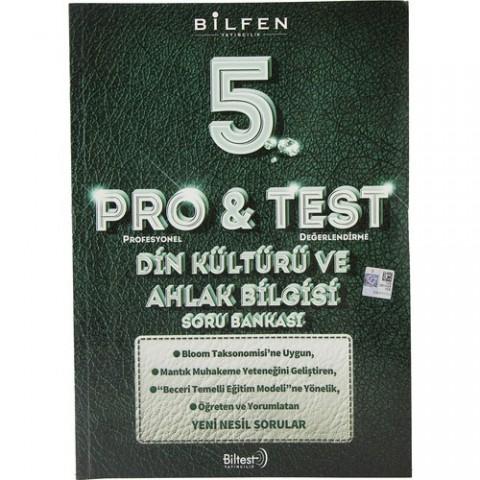 Bilfen Yayınları 5. Sınıf Pro & Test Din Kültürü ve Ahlak Bilgisi Soru Bankası