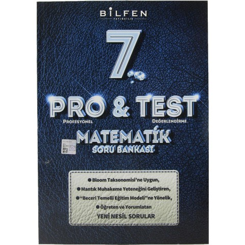 Bilfen Yayınları 7. Sınıf Pro & Test Matematik Soru Bankası