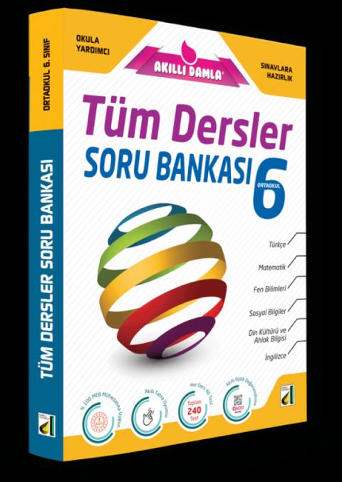 Damla 6. Sınıf Tüm Dersler Soru Bankası
