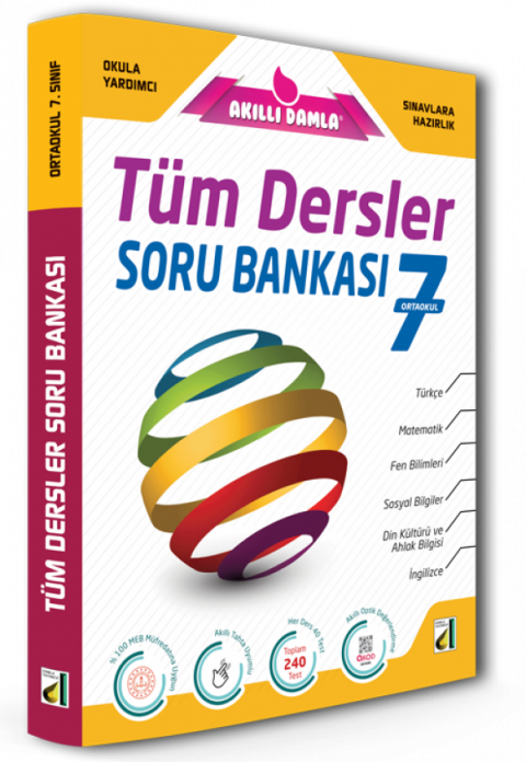 Damla 7. Sınıf Tüm Dersler Soru Bankası