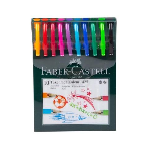 Faber Castel 1425 Renkli Tükenmez Kalem 10'lu