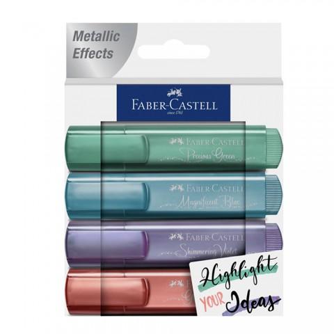 Faber Castell Fosforlu Kalem Metalik Renkler 4lü
