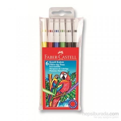 Faber-Castell Keçeli Boya Kalemi 6'lı Poşet (5062155106)