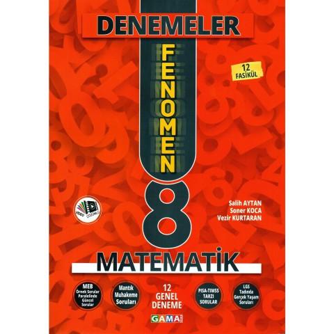 Gama Yayınları 8. Sınıf Fenomen Matematik Yeni Nesil 12 Genel Deneme 2020