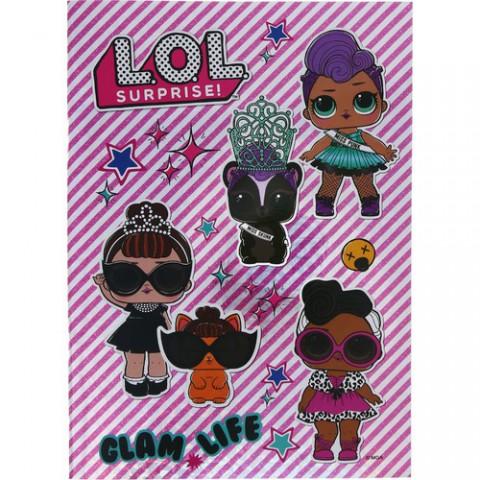 Keskin Color L.O.L. A4 40 Yaprak Kareli Hologram Kaplamalı Defter