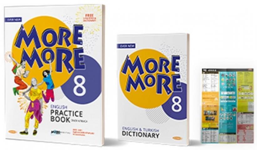 Kurmay ELT More and More English 8 Practice Book + Dictionary + 3 Poster (3 Kitap Set) Kurmay ELT Yayınları
