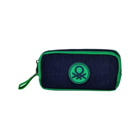 Lacivert Yeşil İki Bölmeli Kalem Çantası - 96924