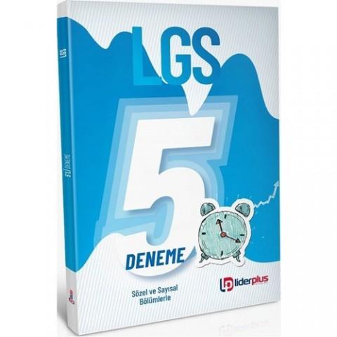 Lider Plus 2020 8. Sınıf LGS 5 Deneme Sayısal ve Sözel Bölümlerle Lider Plus Yayınları