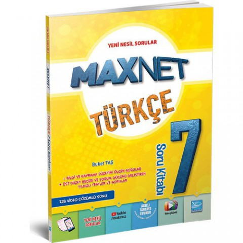 Maxnet 7. Sınıf Türkçe Soru Kitabı
