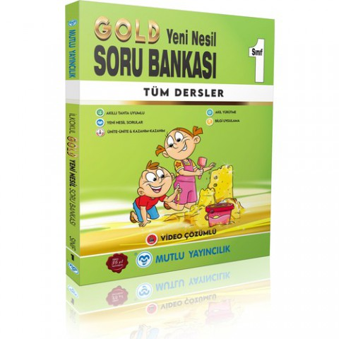Mutlu Yayınevi Mutlu 1.sınıf Gold Yeni Nesil Tüm Dersler Soru Bankası