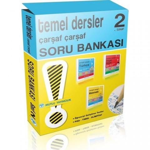 Mutlu Yayınları Çarşaf Çarşaf 2. Sınıf Soru Bankası Seti