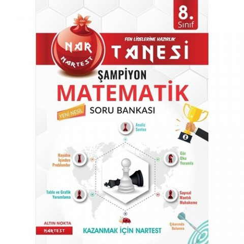 Nartest Yayınevi 8. Sınıf Nar Tanesi Son Prova Matematik Altın Sorular