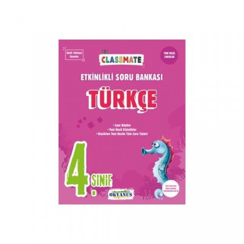 Okyanus Yayınları 4. Sınıf Classmate Türkçe Etkinlikli Soru Bankası