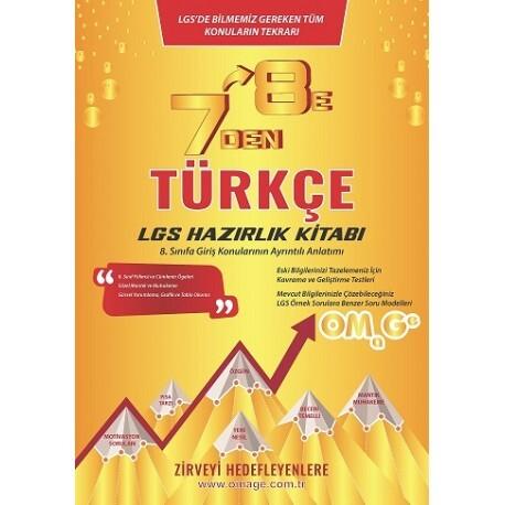 Omage Yayınları 7'den 8'e LGS Türkçe Hazırlık Kitabı