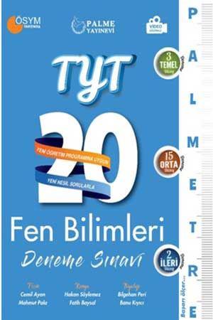 Palme TYT Fen Bilimleri 20 Deneme Sınavı Palmetre Serisi Palme Yayınevi