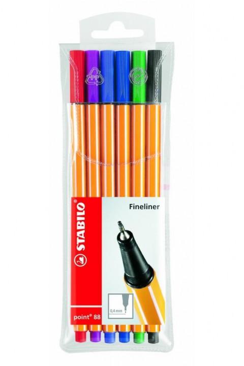Stabilo Point 88 İnce Keçe Uçlu Kalem 6'lı