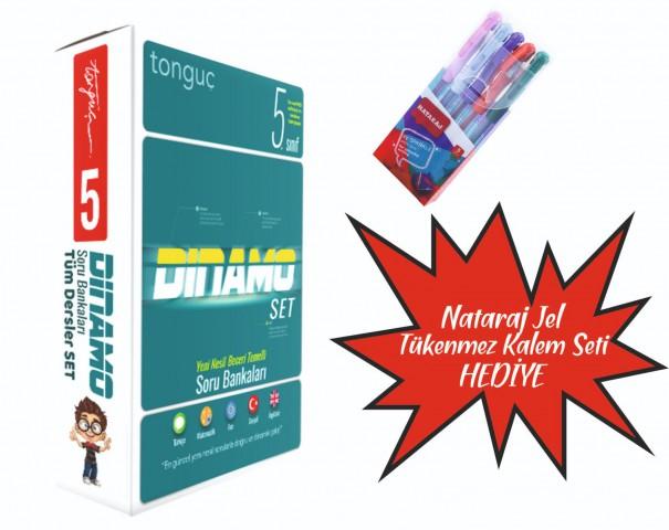 Tonguç Yayınları 5. Sınıf Dinamo Tüm Dersler Soru Bankası Set ( Nataraj Tükenmez Kalem Seti Hediyeli )