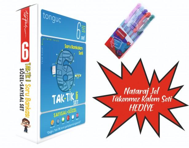 Tonguç Yayınları 6. Sınıf Taktikli Tüm Dersler Soru Bankası Seti ( Nataraj Tükenmez Kalem Seti Hediyeli )