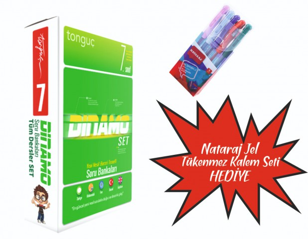 Tonguç Yayınları 7. Sınıf Dinamo Tüm Dersler Soru Bankası Set ( Nataraj Tükenmez Kalem Seti Hediyeli )