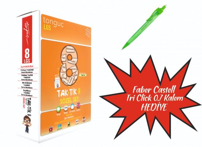 Tonguç Yayınları 8. Sınıf Taktikli Sözel Set ( Faber Castel Tri Click 07 Kalem Hediyeli )