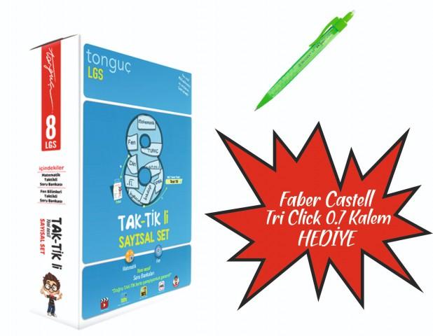 Tonguç Yayınları 8.Sınıf Tak-Tik li Sayısal Set ( Faber Castel Tri Click 0.7 Kalem Hediyeli )