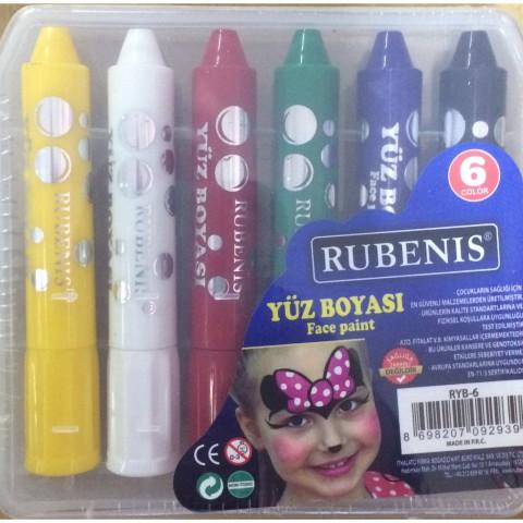 Yüz Boyası Rubenis Set 6 Renk