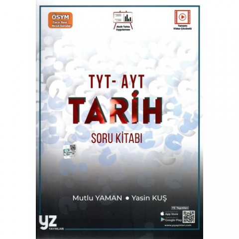 Yz Yayınları Tyt-Ayt Tarih Soru Bankası